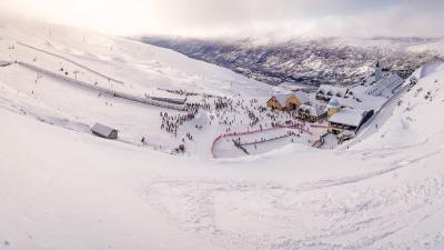 cardrona mountain header powder day